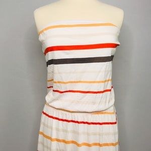 NWOT Old Navy Strapless Cotton Striped Maxi Small